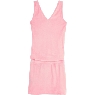 Women Dresses Solid - Solid Terry Tank dress, Peony back