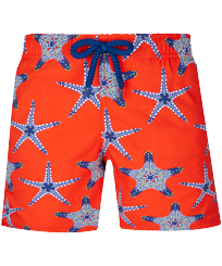 Boys Others Printed - Boys Swim Trunks Stretch Starfish Dance, Medlar front