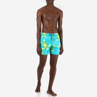 Men Classic / Moorea Printed - Men Swimwear Mosaic Turtles, Curacao frontworn