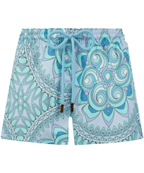 Women Others Printed - Women Swim Short Mandala, Lagoon front