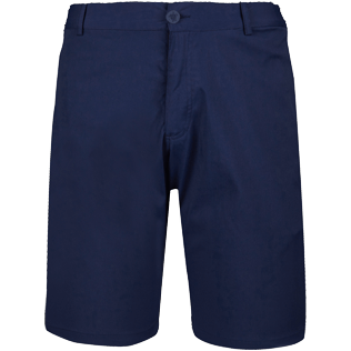 Men Others Solid - Men swimwear fabric straight Bermuda Shorts Solid, Navy front
