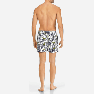 Men Classic / Moorea Printed - Men Swimwear Bamboo Song, White backworn