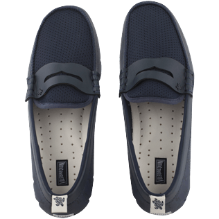Men Others Printed - Men Waterproof Loafers Solid, Navy / white front