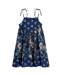 Girls Others Printed - Girls Cotton Dress Botanicals, Botanicals front