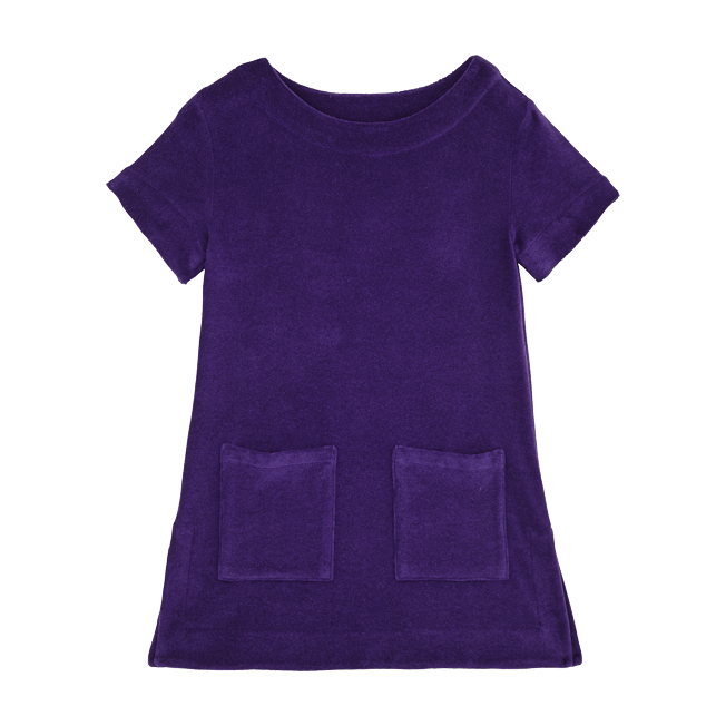 Vilebrequin - Robe Fille en Eponge Unie - 1