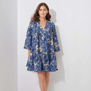 Women Others Printed - Women Linen Cover-up Botanicals, Botanicals supp1