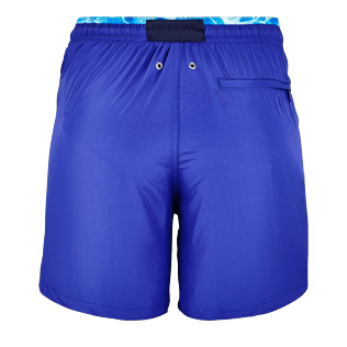 Men Ultra-light classique Solid - Men Lightweight and Packable Swimwear Solid and Splash, Neptune blue back