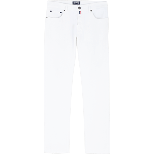 Men Others Solid - Men White 5-Pocket Jeans Regular Fit, White front