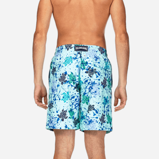 Men Long Printed - Long Cut Swim shorts, Lagoon supp2