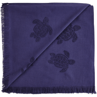 Altri Unita - Fouta in spugna Turtles Jacquard, Midnight blue back