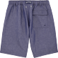 Men Shorts Solid - Solid Straight bermuda, Jeans blue back