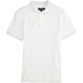 Men Others Solid - Men Terry Cloth Polo Shirt Solid, White front