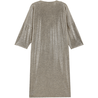 Mujer Autros Liso - Women Lurex mesh Beach Cover-up Solid, Oro back