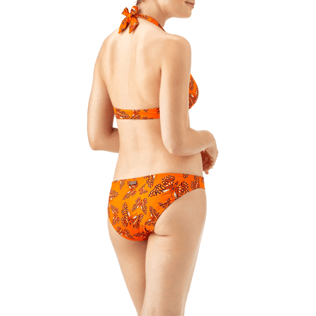 Women Bottoms Printed - Butterflies Cut bikini bottom, Papaya back