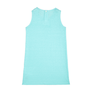 Girls Others Solid - Girls Linen Jersey Dress Solid, Lagoon back