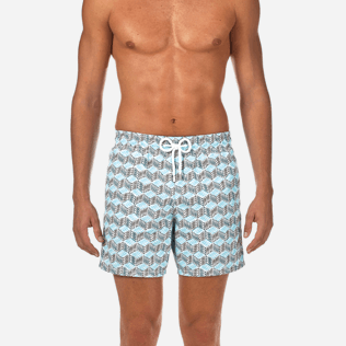 Men Classic Printed - Fishes Cube Swim shorts, Azure supp1