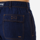 Men Others Solid - Men Linen Cotton Straight Bermuda Shorts Solid, Indigo supp1