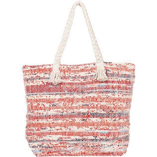 AUTRES Imprimé - Grand Sac de plage Uni Eco-friendly, Rouge back