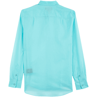 Others Solid - Unisex cotton voile Shirt Solid, Lazulii blue back