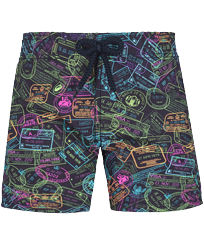 Boys Others Printed - Boys Swim Trunks 1989 Passeport Please !, Navy front