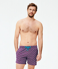 Men Stretch classic Printed - Men Stretch Swimwear Micro Ronde des Tortues, Kerala frontworn