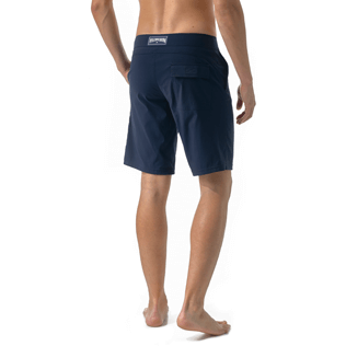 Men Flat belts Solid - Solid Superflex Long fitted cut Swim shorts, Navy supp3