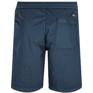 Men Others Solid - Men Jogging Gabardine Bermuda Shorts, Navy back