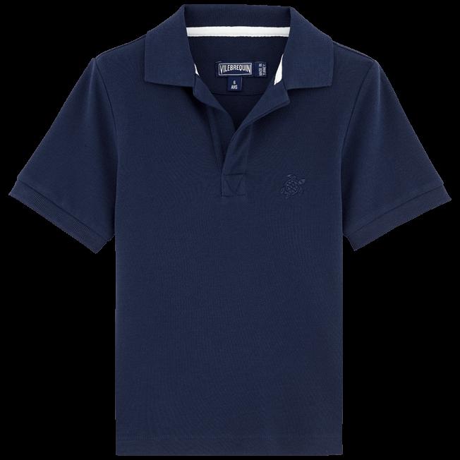 Vilebrequin - Boys Cotton Pique Polo Shirt Solid - 1