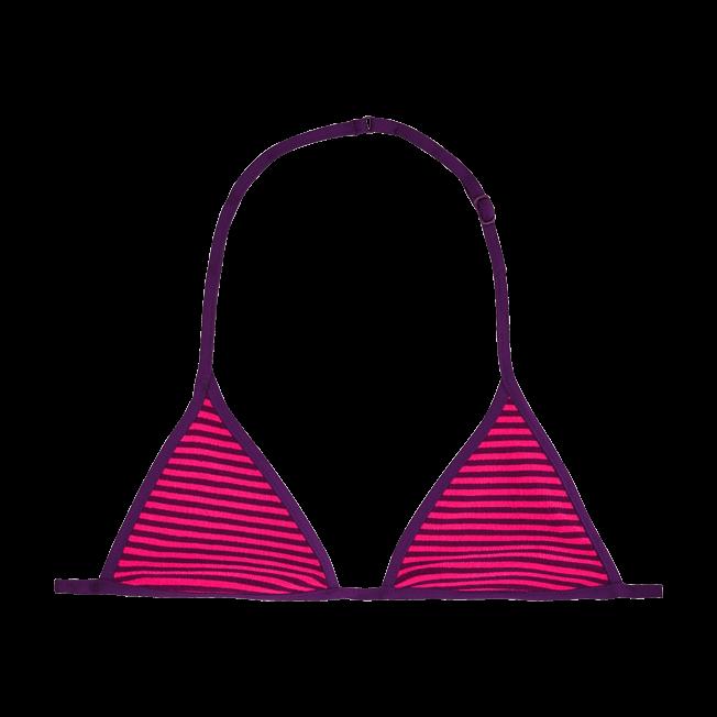 Vilebrequin - Girls Bikini Top in Terry Cloth Striped - 1