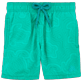 Boys Classic / Moorea Printed - Boys Water-Reactive Swimtrunks Hypnotic Turtles, Veronese green frontworn
