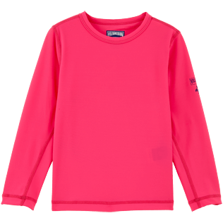 049 Solid - Solid Anti-UV long sleeves T-Shirt, Shocking pink front