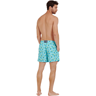 Men Classic Printed - Men Swimtrunks Bateaux sur l'eau, Lagoon backworn
