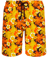 Men Long classic Printed - Men Swimwear Long 1976 Sun Turtles, Lemon front