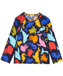 Others Printed - Long Sleeves Kids Rashguard 1999 Focus , Sapphire front