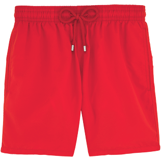 Men Classic Solid - Men Swimwear Solid, Poppy red front