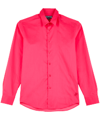 Others Solid - Unisex Cotton Voile Light Shirt Solid, Shocking pink front