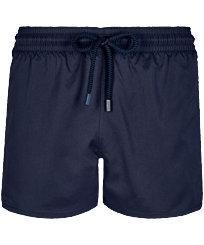 Men Short classic Solid - Men Swimwear Short and Fitted Stretch Solid, Navy front