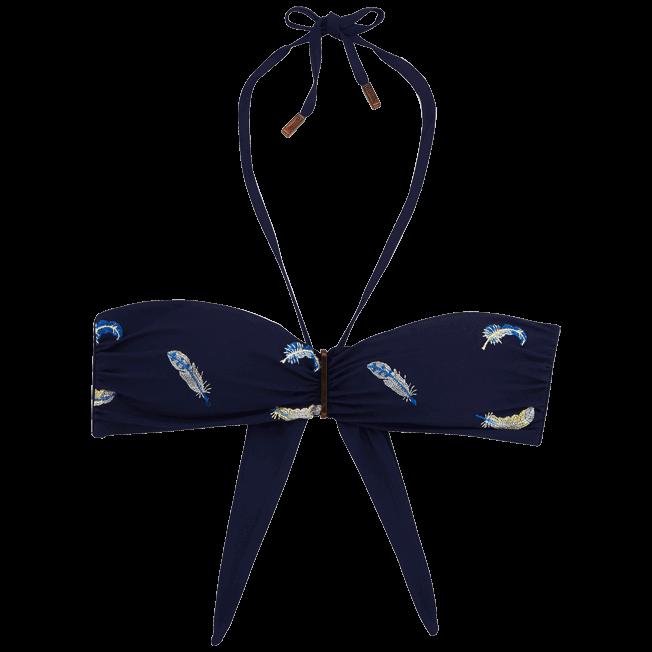 Vilebrequin - Haut de maillot bandeau Blue Breath Brodé - 1