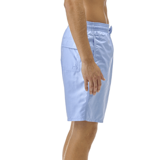 Men Long classic Solid - Solid Long Cut Swim shorts, Sky blue supp1