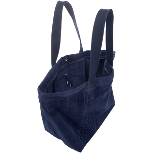 Men Bags Solid - Large Terry Cloth Beach bag Solid Jacquard, Navy supp1