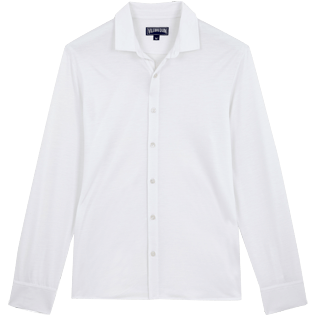 Men Others Solid - Jersey Tencel Men Shirt Solid, White front