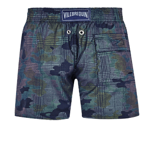 Boys Others Printed - Boys Swim Trunks Stretch Prince de Galles, Navy back