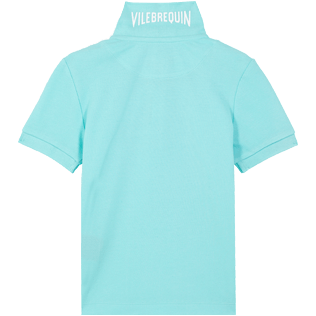 Boys Others Solid - Cotton pique Boys Polo Shirt Solid, Lagoon back