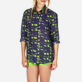 Others Printed - Unisex Linen Jersey Shirt Eels Knitting, Wasabi supp1
