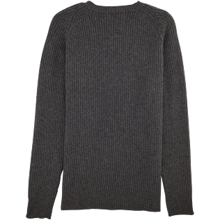 Men Sweaters Solid - Mongolian cashmere crewneck sweater, Grey back