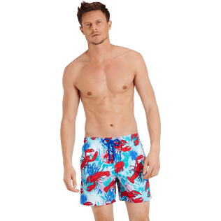 Men Classic Printed - Men Swim Trunks Homards & Coraux, Medicis red frontworn