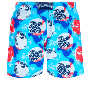 Men Classic Printed - Men Swimwear Mappemonde Dots 360 printed, Light azure back