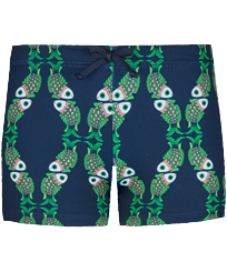 Boys Others Printed - Boys Swimwear Boxer cuts Sweet Fishes, Navy front