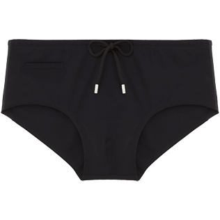 Men Short, Fitted Solid - Tuxedo Tuxedo swim briefs, Black front