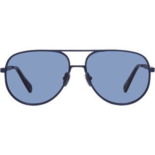 Sunglasses Solid - Blue Smoke Sunglasses, Navy front
